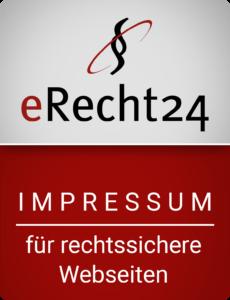Rechtssicheres Impressum von eRecht24